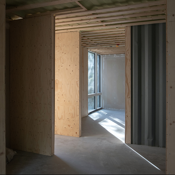 Upper floor bedrooms under construction (Sept 2018)