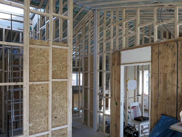New interior walls under construction
