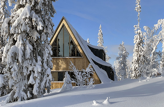 A-frame ski lodge